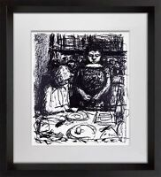Pierre BONNARD LITHOGRAPH Signed Limited Edition Le Menu +Custom FRAME