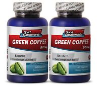 Green Coffee Bean Extract GCA 800mg. Weight Loss (2 Bottles) Free Shipping