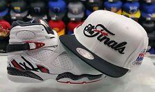 Matching Mitchell & Ness Chicago Bulls Final snapback Hat for Jordan 8 ALTERNATE