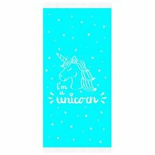 I'm A Unicorn Blue Bath Beach Holiday Swim 100% Fresh Cotton SARONG Towel