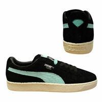 Puma Suede x Diamond Supply Mens Lo Causal Black Blue Trainers 365650 01 B14B
