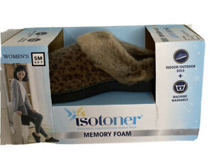 ISOTONER Small WOMEN'S SLIPPERS WITH Memory Foam Indoor/outdoor Sole.