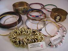 Huge lot VINTAGE BRACELETS bangles silver gold hippie ethnic tribal victorian
