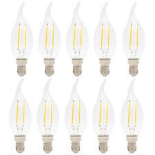 10X E14 Glühfaden Birne 2 Watts 140 lumen LED Kerze Filament Lampe Fadenlampe