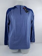 Men's Under Armour Scope Coldgear Hoodie 1/4 Zip Pullover 1271955 Blue S