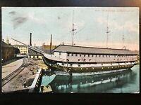 Vintage Postcard>1908>CONSTITUTION>Old Ironsides>Boston>Massachusetts