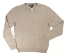 NEW $198 BLOOMINGDALES HTHR BROWN 2 PLY 100% CASHMERE CREWNECK SWEATER 2XL