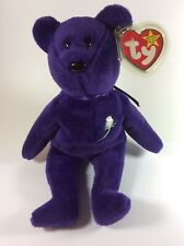 Ty Beanie Babies Princess Diana Bear.Made In Indonesia PVC Pellets