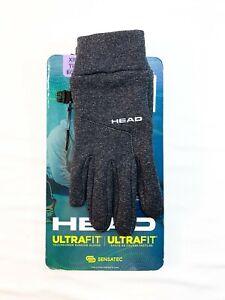 HEAD Unisex Ultrafit Sensatec Touchscreen Running Gloves XSmall - Dark Heather