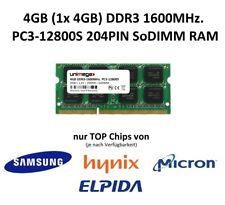 4GB (1x 4GB) DDR3-1600MHz PC3-12800 204PIN SO DIMM Notebook RAM Speicher Memory