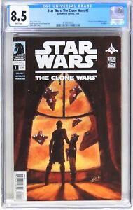 D220 Star Wars: The Clone Wars #1 DH CGC 8.5 VF+ (2008) 1st app Ahsoka Tano