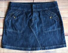 Women's Skirt Size 14 DKNY Jeans Denim Donna Karan Womens Mini