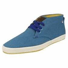 Fish N Chips by Base London Rod Mens Canvas Ankle BOOTS 9 UK Standard Blue
