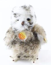 """Vintage Steiff Varigated Young Owl 2591/22 9"""" w/ Tag & Button"""