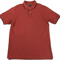 RM Williams Mens Vintage Short Sleeve Red Polo Shirt Size L Made In Australia