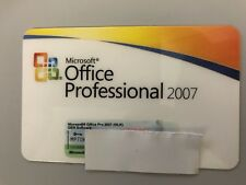 MS Microsoft Office 2007 Pro Professional Vollversion deutsch