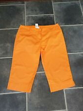 ORSAY Neon Orange Shorts Trousers Size 14