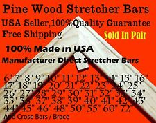 """Pair of  Canvas Stretcher Bars Strips 6 ,8,10,12,14,16,18,20,24,30,36,48,60,72"""""""