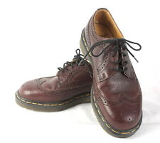 Dr Martens 3989/59 Brogue Wingtip Oxford Shoes Mens 7 Brown