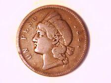 DOMINICAN REPUBLIC 1897A Silver Peso Very Fine