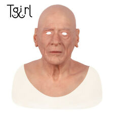 Silicone Headgear Old male Realistic Masquerade Full Head Tricky Movie props