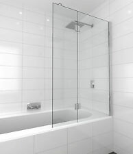 Shower Screen Over Bath Fixed and Swing Panel 1000mm