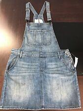 Gap Women's Denim Overall Dress Jumpsuit Mini Skirt Size M Nwt