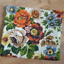Vintage Fabric Big Bold Victorian Floral Print 18.5 x 36.5 Inches