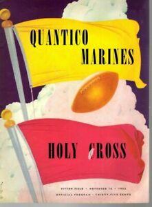1952 (11/16) Football program Quantico Marines vs. Holy Cross ~ Gd