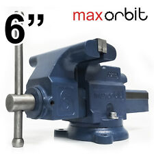 "6"" 150mm Heavy Duty Engineers Bench Vice 2 Ton Semi Precision Level Swivel Base"