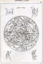 Astronomia: Astrologia: Costellazioni: Emisfero Boreale. Incisione su Rame. 1866
