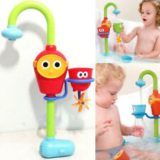 Baby Kids Cartoon Flow 'N' Fill Faucet Spout Bath Toy Learning Fun Toy Set