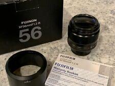 Fujifilm Fujinon XF 56mm f/1.2 R Super EBC Lens Fuji X Mount. Lens Hood and Box