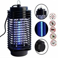 110V/220V Electric Mosquito Fly Bug Insect Zapper Killer With Trap Lamp Black yG