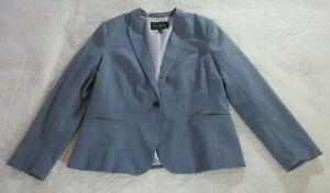 Banana Republic Factory Womens Blazer Size 12P Blue Gray Single Button