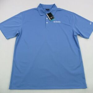 Nike Mens Polo Golf Shirt Men's Classic Blue Short SleeveXL Casual Dri-Fit NWT