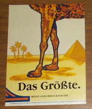 Seltene Werbung CAMEL FILTER - Das Größe - Reine Geschmackssache 1991
