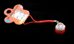 Jewel of Portable Phone Strap Cat Japanese Cat Maneki Neko Holder Happy 6713