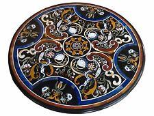 "48"" Marble center Table Top inlay Pietra Dura semi precious stone handmade art"