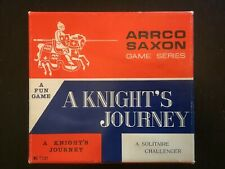 Vintage Board Game A Knight's Journey A Solitaire Challenger Arrco Saxon Knights
