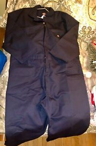 Dickies Coveralls 3X RG Navy Blue Mens Long Sleeve Zip 3XL Regular BRAND NEW TAG