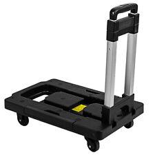Foldable Trolley Capacity 300 Ib Trolley Cart Shopping Cart Luggage Cart Black