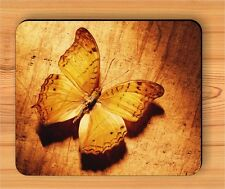 BUTTERFLY GOLD WINGS FASHION DESIGN MOUSE PAD -klj8Z