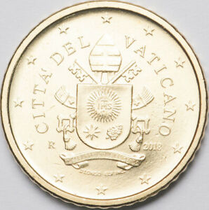 Vatican 50 cents 2018 regular coin UNC (#6205)