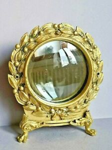 Antique French decorative freestanding Gold dressing table or hallway mirror