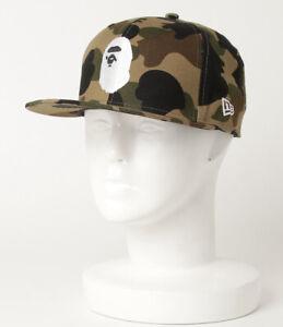 AUTHENTIC APE BAPE x NEW ERA 59 FIFTY 1ST CAMO APE HEAD CAP GREEN L 7 1/2 NEW