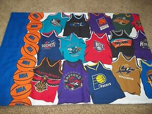 LN Vintage NBA Basketball Team Jersey's Novelty Reversible Pillow Case {Fabric}