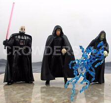 Star Wars Power of the Force Jedi Luke Skywalker Darth Vader & Emperor Palpatine