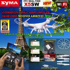 RC QUADRICOTTERO-DRONE Syma X5SW  Wifi FPV 3 Batterie + CARICAMULTI