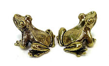 2 x Frog Miniture Brass figures cast in India